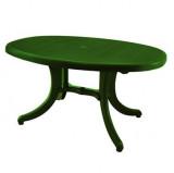 Baštenski sto - ovalni zeleni ORLANDO