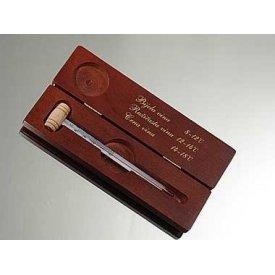 Termometar za vino u drvenoj kutiji