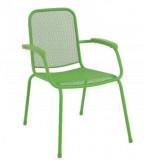 Baštenska metalna stolica – Lopo zelena