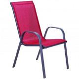 Baštenska stolica - crvena COMO