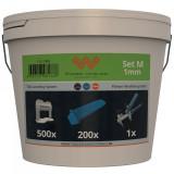 Komplet za nivelaciju pločica 1mm (500 kajli + 200 spona + klešta) SYSTEM LEVELING
