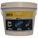 Komplet za nivelaciju pločica 3mm (500 kajli + 200 spona + klešta) SYSTEM LEVELING