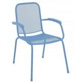 Baštenska metalna stolica – plava Lopo