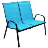 Baštenska stolica - dvosed plavi ANCONA