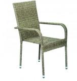 Baštenska Stolica od ratana - siva BAY
