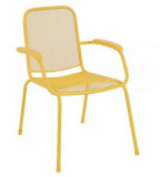 Baštenska metalna stolica – žuta Lopo