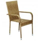 Baštenska stolica od ratana - braon BAY