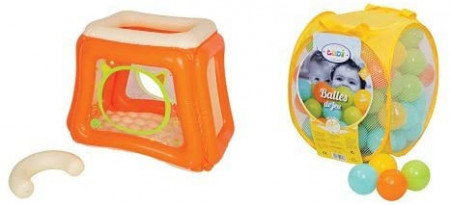Pachet-Spatiu de joaca gonflabil CAT+Set bile de joaca Mixt
