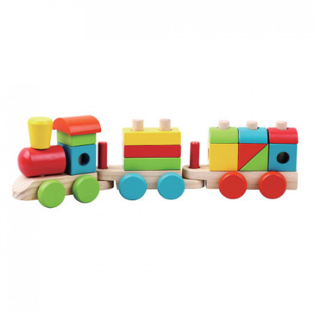 Tren din lemn cu forme de construit JUMINI