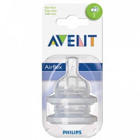 Philips-AVENT Tetina Airflex 2 Orificii x 2 buc
