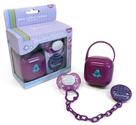 Thermobaby Set suzeta si accesorii, Purple