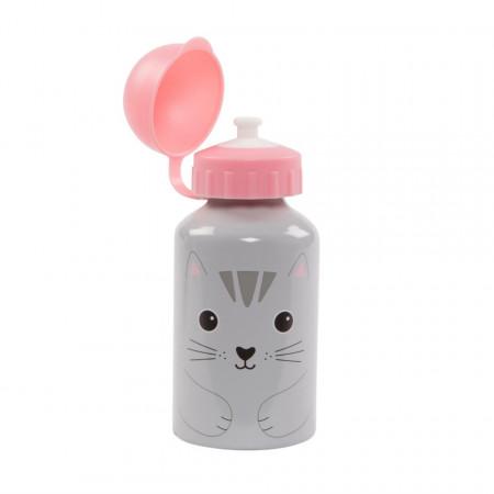 Sticla din aluminiu cu capac Pisica Nori 300 ml