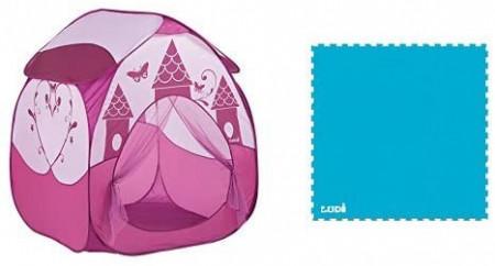 Pachet-Cort joaca PRINTESA roz inchis+Covoras din spuma Sport