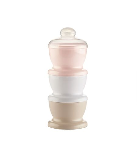 Recipient 3 compartimente lapte praf/ mancarica- Powder Pink