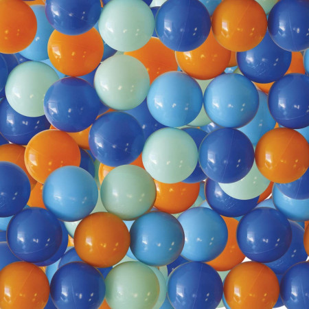 Pachet-Set bile de joaca Bleu+Salteluta de joaca BUFNITA BLEU