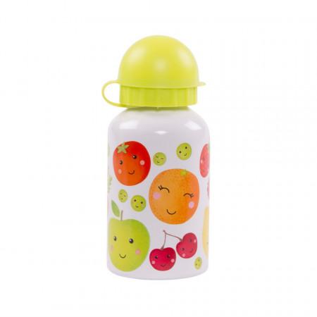 Sticla din aluminiu cu capac Happy Fruit & Veg 300 ml