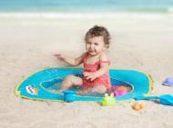 Pachet-Minipiscina de plaja cu jucarii 123 SOARE+Cort UV50 Sun Set
