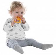 Vulli Inel dentitie vanilie in cutie cadou, Girafa Sophie Rosu