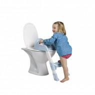Reductor pentru toaleta cu scarita Kiddyloo Baby blue