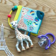 Vulli Set Cadou Girafa Sophie, Zornaitoare si carticica cu activitati