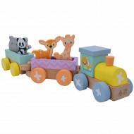 Studio Circus Set trenulet din lemn cu animale