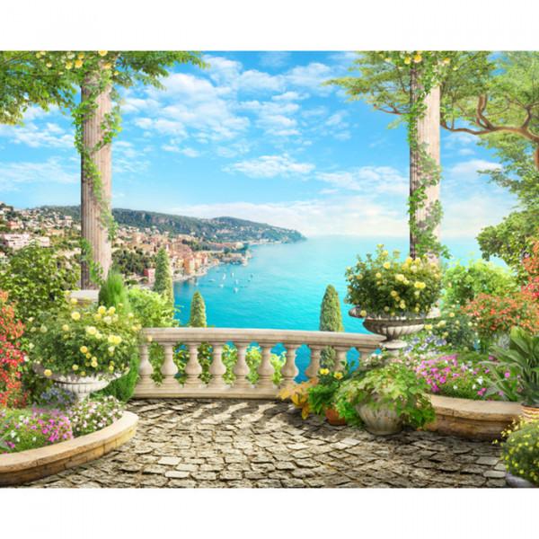 Fototapet 3D Peisaj Mediteranean MDP134