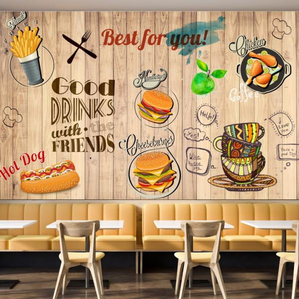 Fototapet Perete Fast Food BES58