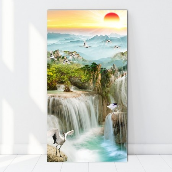 Tablou Canvas Rasarit de Soare Printre Cascade BES127