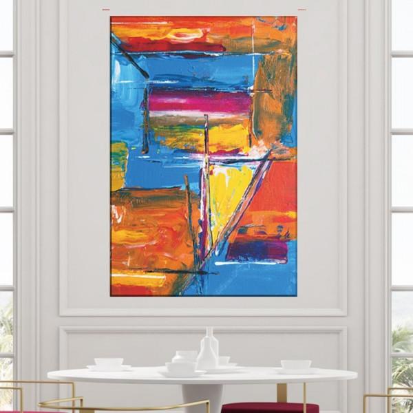 Tablou Canvas Abstract Bucurie de Culori CTB53