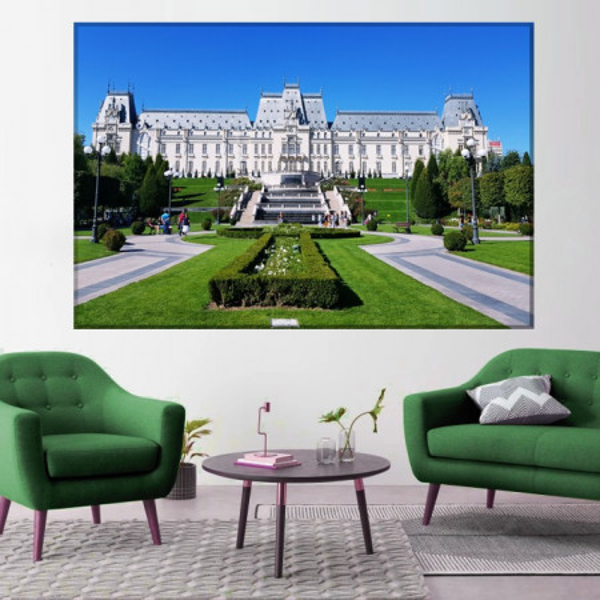 Tablou Romania Vintage, Palatul Cecului RSP32