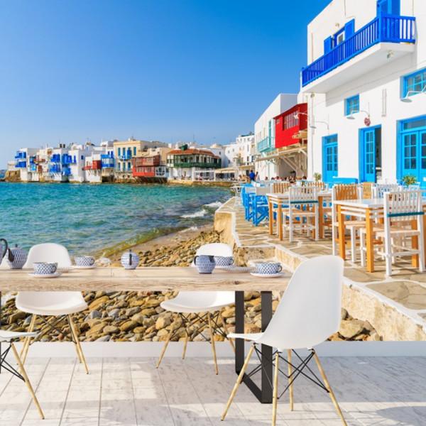 Fototapet Faleza in Santorini, Grecia GRTV8