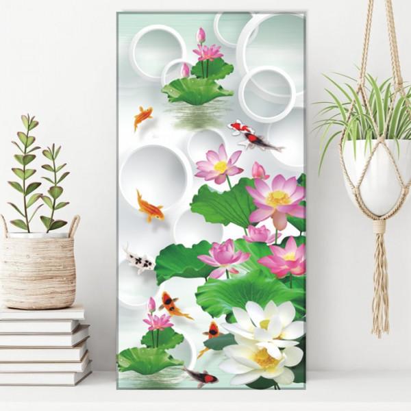 Tablou Canvas Pesti Printre Flori de Lotus FSHB41