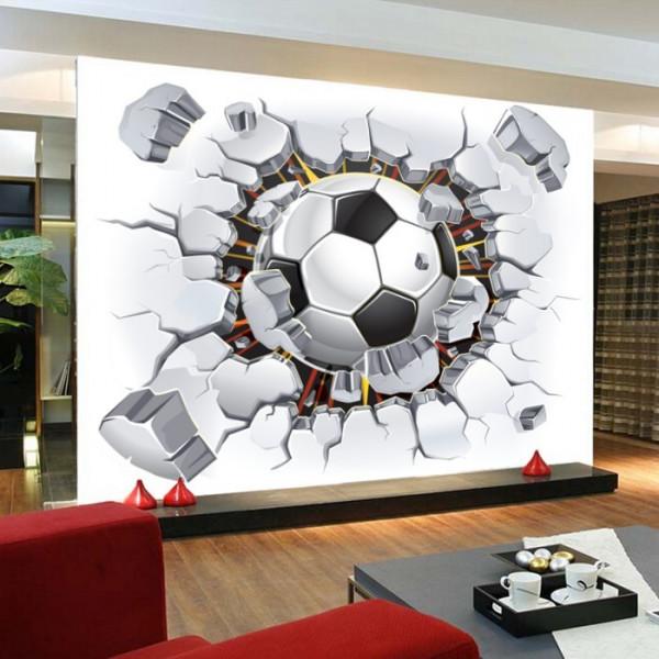 Fototapet 3d Minge Fotbal In Perete FT437