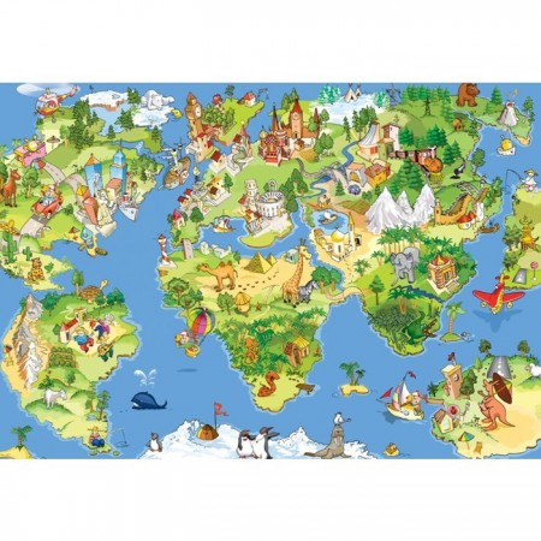 Fototapet Harta Lumii Pentru Copii GST36