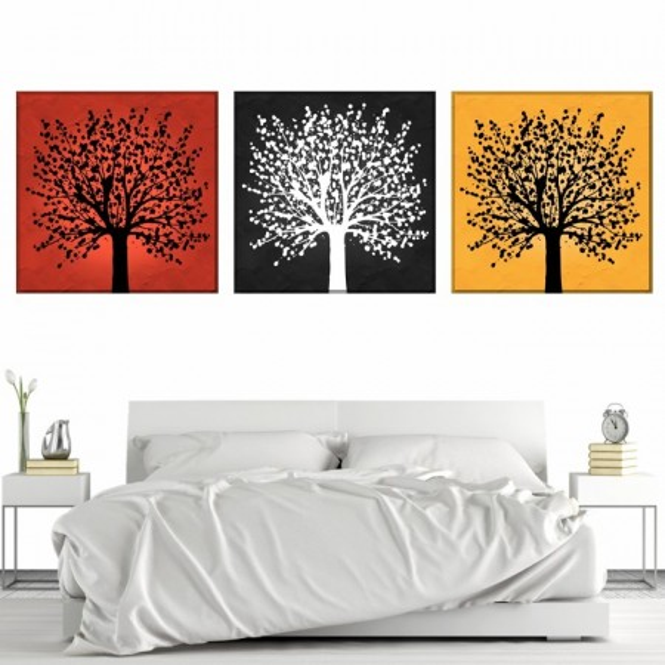 Multicanvas Copaci Artistici Multicolori MART15
