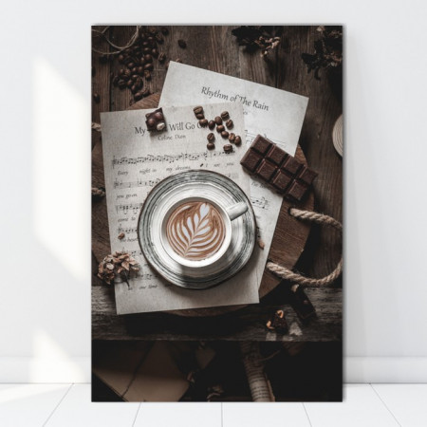 Tablou Canvas Ceasca de Cafea cu Cantec CMH82