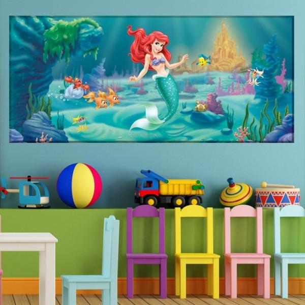 Tablou Canvas Micuta Sirena Printre Plante Marine DEB352
