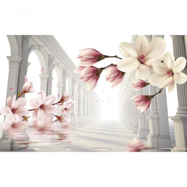 Fototapet 3D Magnolii Si Coloane OPO96