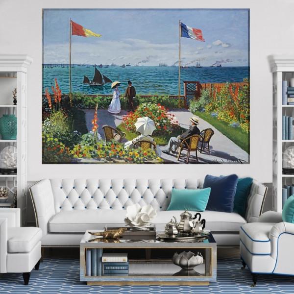 Tablou Claude Monet Terasa din Saint - Adresse