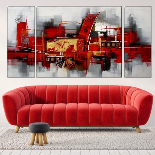 Set 3 Tablouri Modern Abstract Art ACA22