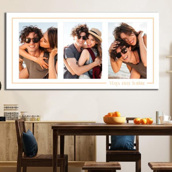 Tablou Canvas Colaj Personalizat 3 Poze TPCD1A