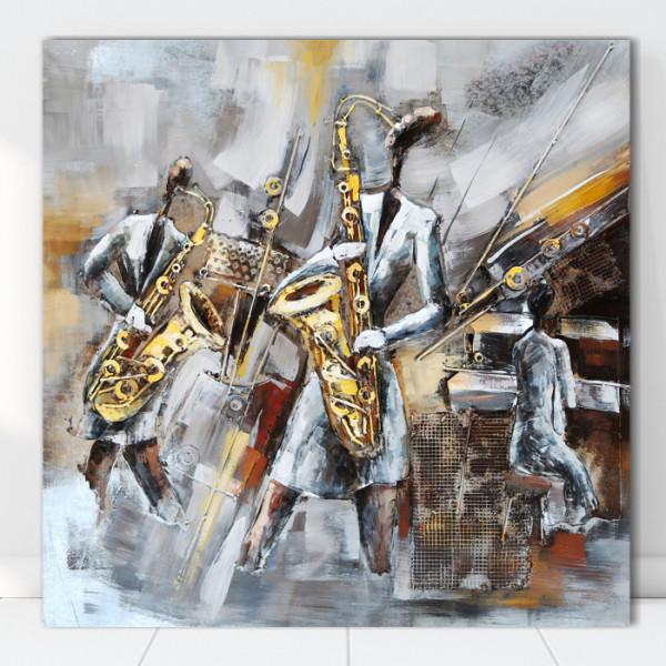 Tablou Canvas Muzicantii cu Saxofon FAP33