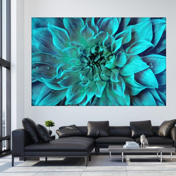 Tablou Canvas Vibratii Albastre-Turcoaz CFB48