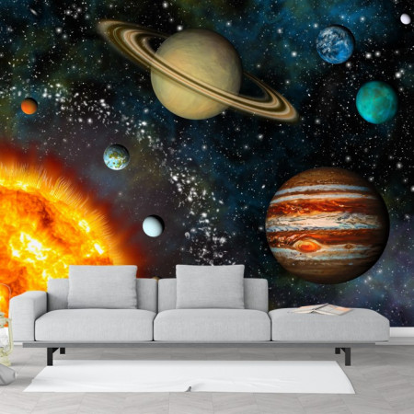 Fototapet 3D Planete in Jurul Soarelui  OUS4