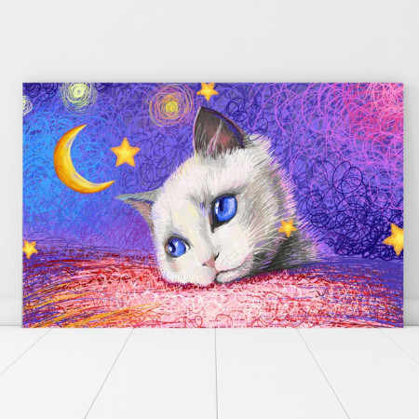 Tablou Canvas Ilustratie Pisicuta FZT9