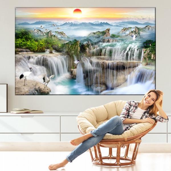 Tablou Canvas Peisaj Fabulos cu Cascade BES121