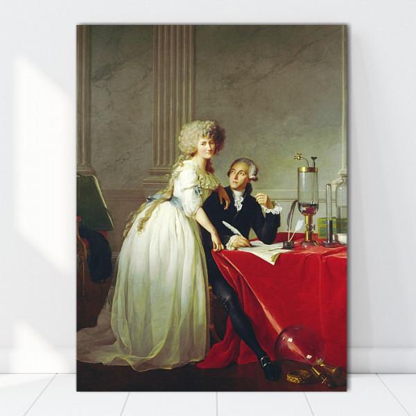 Tablou Portretul lui Antoine-Laurent Lavoisier și al soției sale TRC9