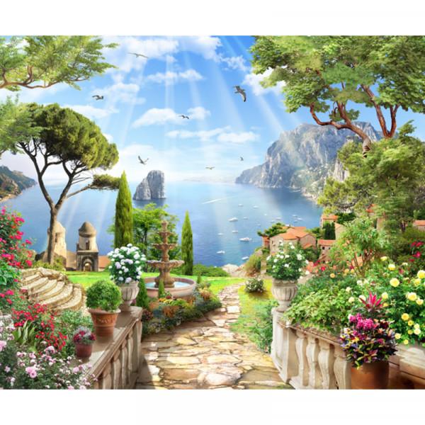 Fototapet 3D Peisaj Mediteranean MDP133