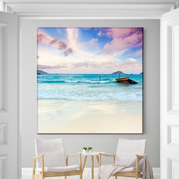 Tablou Canvas Plaja cu Valuri de Relaxare PMO127