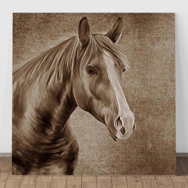 Tablou Canvas Portret Cal Sepia HPS6